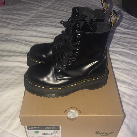 d7b550432f8f Dr. Martens Shoes | Dr Martens Jadon Blk Smooth Sz 6 Uk 4 | Poshmark